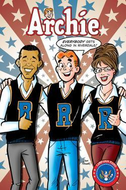 Archie Comics Cover: Archie No.617 Barack Obama and Sarah Palin Campaign Pains Part 2 by Dan Parent