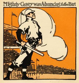 Mighty Casey Advancing to the Bat by Dan Sayre