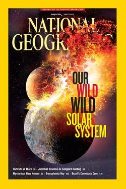 Cover of the July, 2013 National Geographic Magazine by Dana Berry