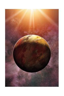 Newly Discovered Planet Gliese 581 E by Dana Berry