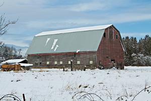 Red Barn in Winter by Dana Styber