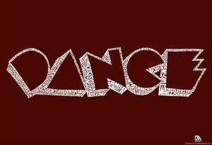 Dance Styles Text Poster