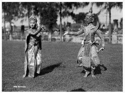 Dancers in Traditional Dress, Bangkok, Thailand, Early 20th Century