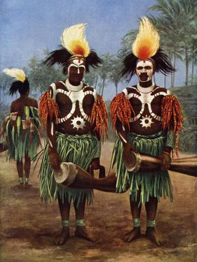 Dancers of the Fly River Region, Papua New Guinea, 1920