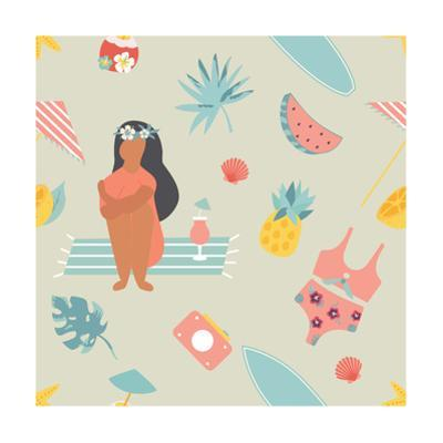 Summertime Pattern with a Pretty Girl by danceyourlife