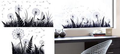 Dandelion Shadow Window Sticker Decal