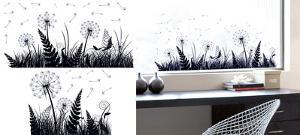 Dandelion Shadow Window Sticker Decal
