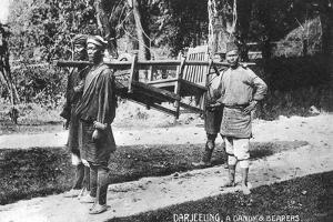 Dandy and Bearers, Darjeeling, India, Early 20th Century