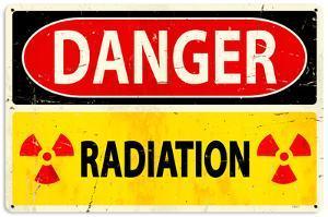 Danger Radiation Steel Sign