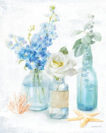 Beach Cottage Florals II by Danhui Nai