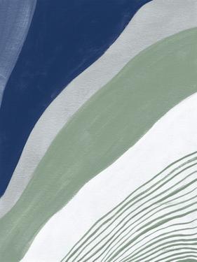 Blue Green Abstract IV by Danhui Nai