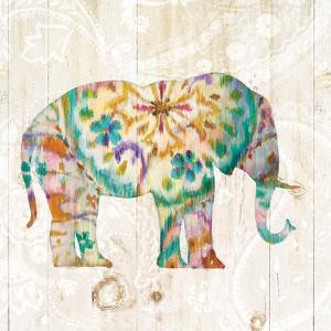 Boho Paisley Elephant I by Danhui Nai