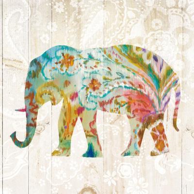 Boho Paisley Elephant II by Danhui Nai