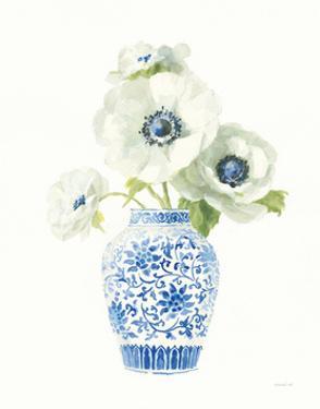 Floral Chinoiserie White II by Danhui Nai