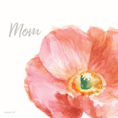 Garden Poppy Flipped on White Crop II Mom by Danhui Nai