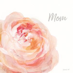 Garden Rose on White Crop II Mom by Danhui Nai
