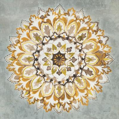 Mandala Delight II Yellow Grey by Danhui Nai