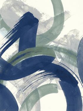 Navy Brushy Abstract II by Danhui Nai