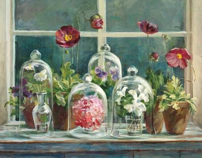 Purple Poppies Windowsill by Danhui Nai