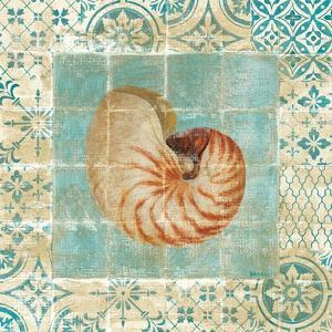 Shell Tiles III Blue by Danhui Nai