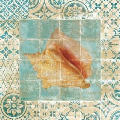 Shell Tiles IV Blue by Danhui Nai