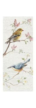 Vintage Birds Panel I by Danhui Nai