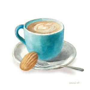 Wake Me Up Coffee I on White by Danhui Nai