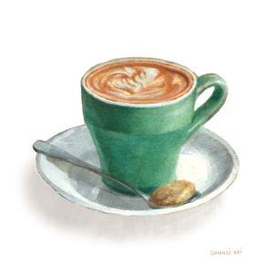 Wake Me Up Coffee II on White by Danhui Nai
