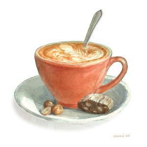 Wake Me Up Coffee III on White by Danhui Nai