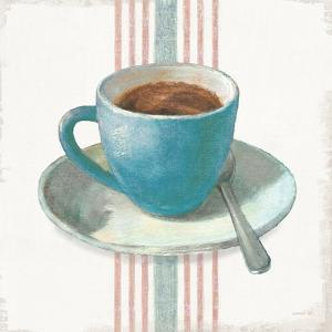 Wake Me Up Coffee IV Blue with Stripes No Cookie by Danhui Nai