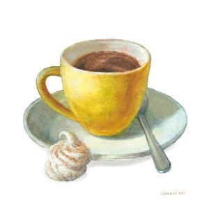 Wake Me Up Coffee IV on White by Danhui Nai