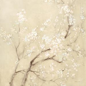 White Cherry Blossoms I Linen Crop by Danhui Nai