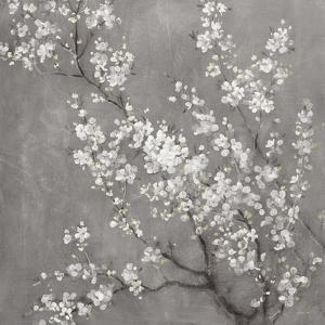 White Cherry Blossoms II on Grey Crop by Danhui Nai