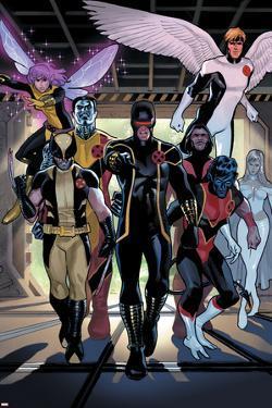 X-Men Legacy Annual No.1 Group: Cyclops, Wolverine, Nightcrawler and Angel by Daniel Acuna