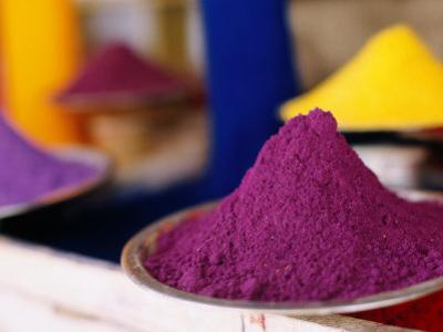 Colourful Tika Powder in Shop, Pushkar, Rajasthan, India