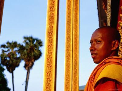 Monk at His Pagoda, Siem Reap, Cambodia