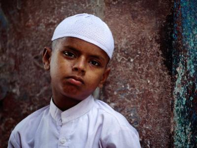 Muslim Boy in Chandni Chowk, Delhi, India