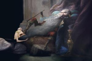 And She Beg Him to Leave Her Alive, from 'Bluebeard' by Charles Perrault (1628-1703) by Daniel Cacouault