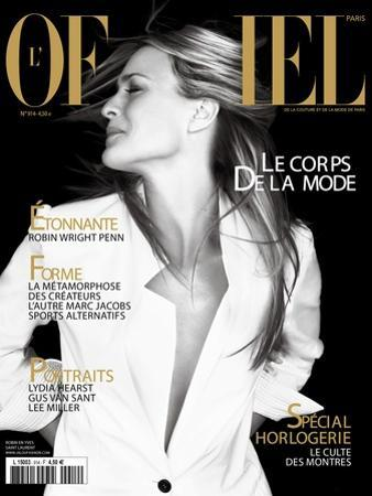 L'Officiel, April 2007 - Robin Wright Penn Porte une Veste Yves Saint Laurent by Daniel Gebbay