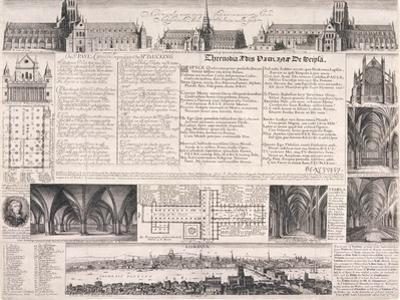 Plans of St Paul's Cathedral, London, 1658