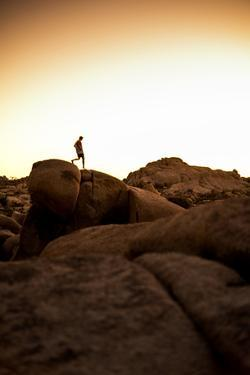 Looking For Lines Amongst The Stone In Joshua Tree National Park by Daniel Kuras
