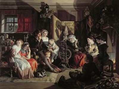 A Winter Night's Tale, C.1867 by Daniel Maclise