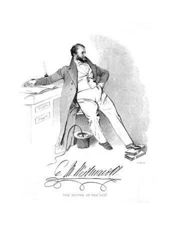 Charles M Westmacott by Daniel Maclise