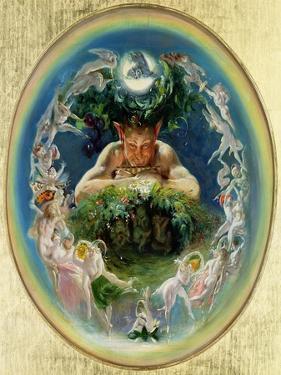 Faun and the Fairies, C.1834 by Daniel Maclise