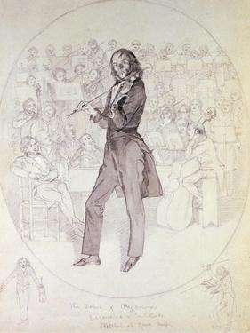 Niccolo Paganini (1784-1840), Violinist by Daniel Maclise