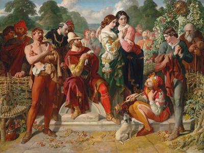 The Wrestling Scene in 'As You Like It', 1854 by Daniel Maclise