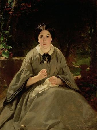 A Lady in Grey, 1859