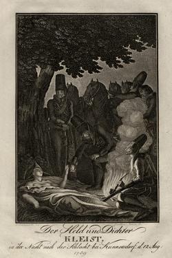 Poet Ewald Von Kleist at the Battle of Kunersdorf, on August 12, 1759, Ca 1759 by Daniel Nikolaus Chodowiecki