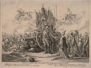 Prince Alexander Mikhaylovich Golitsyn at the Siege of the Khotyn Fortress 1769, 1769 by Daniel Nikolaus Chodowiecki