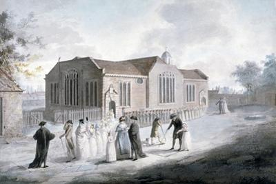 A Procession of Schoolchildren Entering Broadway Chapel, Westminster, London, 1797